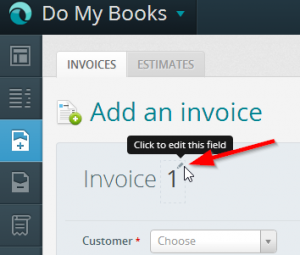 Invoice numbers wave accounting
